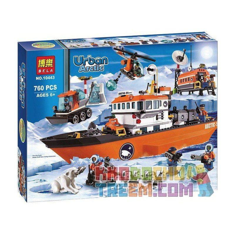 Bela 10443 (NOT Lego City 60062 Arctic Icebreaker ) Xếp hình Tàu Phá Băng Vùng Cực 760 khối