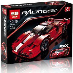 LEPIN 21009 Xếp hình kiểu Lego RACERS Ferrari FXX 1 17 Siêu Xe Ferrari FXX Tỉ Lệ 1 17 626 khối