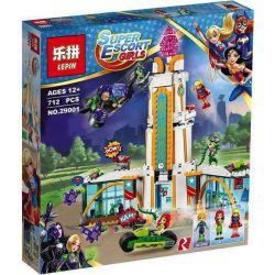 Lepin 29001 Bela 10618 Sheng Yuan 887 SY887 (NOT Lego Super Hero Girls 41232 Super Hero High School ) Xếp hình Trường Trung Học Của Nữ Siêu Anh Hùng 712 khối