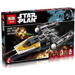 LEPIN 05065 Xếp hình kiểu Lego STAR WARS Y-wing Starfighter Y-wing Star Fighter Phi Thuyền Chiến đấu Cánh Chữ Y 691 khối