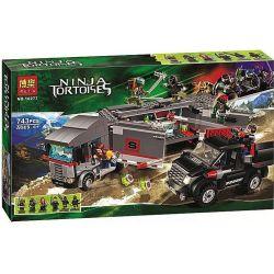Bela 10277 Lari 10277 Xếp hình kiểu Lego TEENAGE MUTANT NINJA TURTLES Big Rig Snow Getaway Ninja Turtle Snow Chase Trốn Thoát Khỏi Big Rig 741 khối