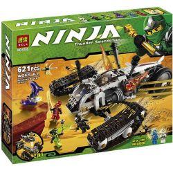 Bela 9788 Lari 9788 LELE 31041 Xếp hình kiểu THE LEGO NINJAGO MOVIE Ultra Sonic Raider Supersonic Pursuit Cỗ Xe địa Hình Siêu âm 622 khối