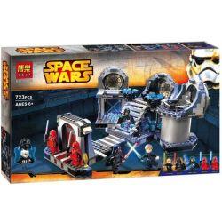 Bela 10464 Lari 10464 Xếp hình kiểu Lego STAR WARS Death Star Final Duel Death Star Ultimate Trận đấu Tay đôi Cuối Cùng Tại Ngôi Sao Chết 724 khối