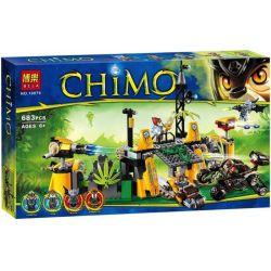 Bela 10079 Lari 10079 Xếp hình kiểu Lego LEGENDS OF CHIMA Lavertus' Outland Base Legend Of Qigong Qigu's Foreign Aid Base Căn Cứ Ngoài Vùng đất Lavertus 684 khối