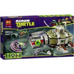 Bela 10265 Lari 10265 Xếp hình kiểu Lego TEENAGE MUTANT NINJA TURTLES Turtle Sub Undersea Chase Ninja Turtle Deep Sea Chase Đuổi Bắt Tàu Ngầm Dưới đáy Biển 684 khối