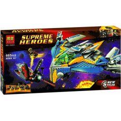 Bela 10251 (NOT Lego Marvel Super Heroes 76021 The Milano Spaceship Rescue ) Xếp hình Giải Cứu Tàu Vũ Trụ Milano 665 khối