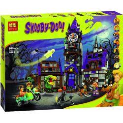 Bela 10432 Lari 10432 Xếp hình kiểu Lego SCOOBY-DOO Mystery Mansion Shi Coolby Auntie House Biệt Thự Bí ẩn 860 khối
