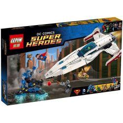Lepin 07004 Sheng Yuan 356 SY356 (NOT Lego DC Comics Super Heroes 76028 Darkseid Invasion ) Xếp hình Ngăn Chặn Darkseid Bằng Phi Thuyền 545 khối