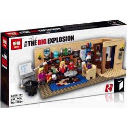 Lepin 16024 (NOT Lego Ideas 21302 The Big Bang Theory ) Xếp hình Lý Thuyết Big Bang 534 khối