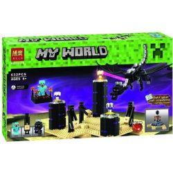 Bela 10178 Lari 10178 BLANK 645 BLX 81117 LELE 79073 Xếp hình kiểu Lego MINECRAFT The Ender Dragon My World Last Dragon Rồng địa Ngục 634 khối