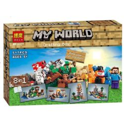 Bela 10177 Lari 10177 BOLX 81116 LELE 79072 SHENG YUAN SY SY541 Xếp hình kiểu Lego MINECRAFT Crafting Box My World My World Handmade Box My World Super Hero 8 In 1 Hộp Sáng Tạo 8 Trong 1  1063 khối