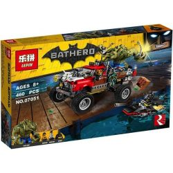 LEPIN 07051 Xếp hình kiểu THE LEGO BATMAN MOVIE Killer Croc Tail-Gator Killer Huge Round Truck Batman Tấn Công Người Cá Sấu 460 khối
