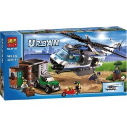 Bela 10423 (NOT Lego City 60046 Helicopter Surveillance ) Xếp hình Trực Thăng Giám Sát 528 khối