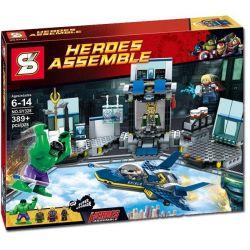 SHENG YUAN SY SY328 Xếp hình kiểu Lego MARVEL SUPER HEROES Hulk's Helicarrier Breakout Green Giant Spaceruel Hulk Thoát Khỏi Phi Thuyền 389 khối