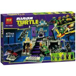 Bela 10264 Lari 10264 Xếp hình kiểu Lego TEENAGE MUTANT NINJA TURTLES Shredder's Lair Rescue Ninja Turtle The Nest Of The Paper Machine Giải Cứu Khỏi Hang ổ Shredder 478 khối