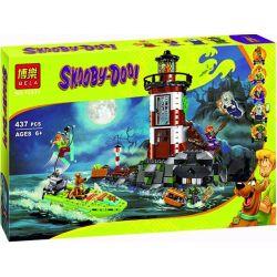 Bela 10431 Lari 10431 Xếp hình kiểu Lego SCOOBY-DOO Haunted Lighthouse Shi Coolby Higgown Lighthouse Ngọn Hải đăng Có Ma 437 khối
