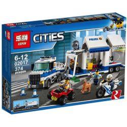 Lepin 02017 Lele 39052 Bela 10657 (NOT Lego City 60139 Mobile Command Center ) Xếp hình Trung Tâm Chỉ Huy Trên Xe Tải Của Cảnh Sát 374 khối