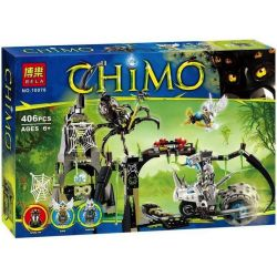 Bela 10078 (NOT Lego Legends of Chima 70133 Spinlyn'S Cavern ) Xếp hình Hang Của Spinlyn 407 khối