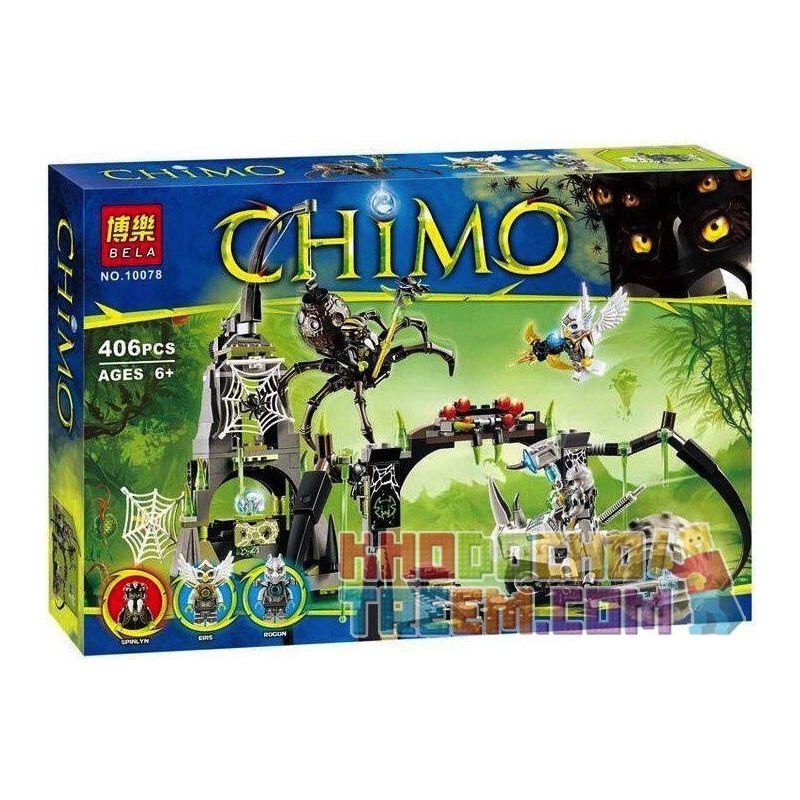Bela 10078 (NOT Lego Legends of Chima 70133 Spinlyn's Cavern ) Xếp hình Hang Của Spinlyn 407 khối