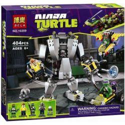 Bela 10209 Lari 10209 Xếp hình kiểu Lego TEENAGE MUTANT NINJA TURTLES Baxter Robot Rampage Ninja Turtle Rural Baxter Robot Cần Dịch 397 khối