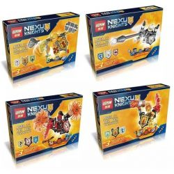 Lepin 14014 (NOT Lego Nexo Knights Nexo Knights ) Xếp hình Hiệp Sĩ Nexo 417 khối