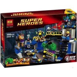 Bela 10241 Lari 10241 SHENG YUAN SY SY319 Xếp hình kiểu Lego MARVEL SUPER HEROES Avengers Hulk Lab Smash Giant Crush Laboratory Hulk Lab Smash 398 khối