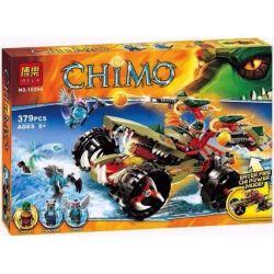 Bela 10294 Lari 10294 Xếp hình kiểu Lego LEGENDS OF CHIMA Cragger's Fire Striker Qigong Legend The Flame Of The Crocodion Cỗ Máy Tấn Công Của Cragger 380 khối