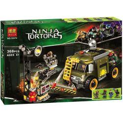 Bela 10276 Lari 10276 Xếp hình kiểu Lego TEENAGE MUTANT NINJA TURTLES Turtle Van Takedown Ninja Turtle Sea Turtle Truck Hạ Gục Xe Tải Nhỏ 368 khối