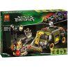 Bela 10276 (NOT Lego Teenage Mutant Ninja Turtles TMNT 79115 Turtle Van Takedown ) Xếp hình Hạ Gục Xe Tải Nhỏ 368 khối