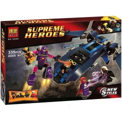 Bela 10250 Lari 10250 SHENG YUAN SY 308 SY308 Xếp hình kiểu Lego MARVEL SUPER HEROES X-Men Vs. The Sentinel X-war VS Sentinel Các Sentinel 336 khối