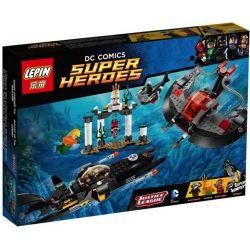 Lepin 07003 Sheng Yuan 355 SY355 Lele 79037 79038 (NOT Lego DC Comics Super Heroes 76027 Black Manta Deep Sea Strike ) Xếp hình Đâm Sâu Biển Đen Manta 387 khối