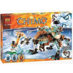Bela 10293 Lari 10293 Xếp hình kiểu Lego LEGENDS OF CHIMA Sir Fangar's Sabre-Tooth Walker Ice Fire Disease Qigong Legend Swords And Tiger's Machine Tiger Tiger Chiếc Saber-tooth Walker Của Sir Fangar