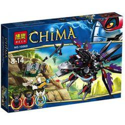 Bela 10060 Lari 10060 Xếp hình kiểu Lego LEGENDS OF CHIMA Razar's CHI Raider V-belts Rubber Bands Qigong Legend Magic Ox Phi Thuyền Chim Ưng Của Razar gồm 6 hộp nhỏ 412 khối