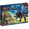 Bela 10060 (NOT Lego Legends of Chima 70012-2 Razar's Chi Raider ) Xếp hình Phi Thuyền Chim Ưng Của Razar 412 khối