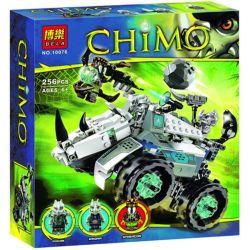 Bela 10076 Lari 10076 Xếp hình kiểu Lego LEGENDS OF CHIMA Rogon's Rock Flinger Legend Of Qigong Hulih Rhinoceros Máy Bắn Đá Của Rogon 257 khối