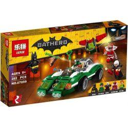 Bela 10630 Lari 10630 LEPIN 07059 Xếp hình kiểu THE LEGO BATMAN MOVIE The Riddler Riddle Racer Mystery True Running Racing The Riddler Riddle Racer 254 khối