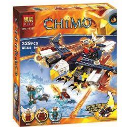 Bela 10292 Lari 10292 Kazi KY98076 98076 Xếp hình kiểu Lego LEGENDS OF CHIMA Eris' Fire Eagle Flyer Qigong Legend Eagle Jess Flame Eagle Đại Bàng Lửa Của Eris 330 khối