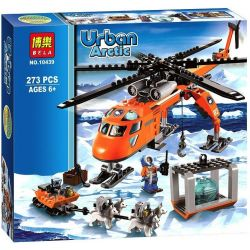 Bela 10439 (NOT Lego City 60034 Arctic Helicrane ) Xếp hình Arctic Helicrane 273 khối
