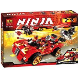 Bela 9796 Sheng Yuan 351 SY351 (NOT Lego Ninjago Movie 70727 X-1 Ninja Charger ) Xếp hình Xe Hơi Chiến Đấu Của Kai 426 khối