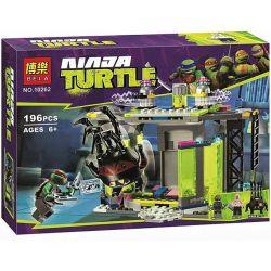 Bela 10262 Lari 10262 Xếp hình kiểu Lego TEENAGE MUTANT NINJA TURTLES Mutation Chamber Unleashed Ninja Turtle Release Of Mutation Room Phòng Thí Nghiệm đột Biến Unleashed 196 khối