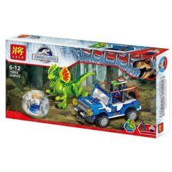Lele 79093 (NOT Lego Jurassic World 75916 Dilophosaurus Ambush ) Xếp hình Dilophosaurus Phục Kích 259 khối