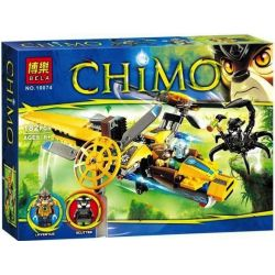 Bela 10074 (NOT Lego Legends of Chima 70129 Lavertus' Twin Blade ) Xếp hình Máy Bay 2 Cánh Quạt Của Lavertus 183 khối