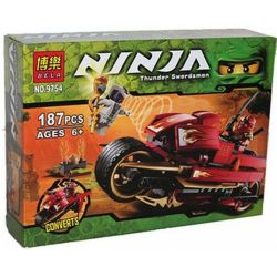 Bela 9754 Lele 79133 (NOT Lego Ninjago Movie 9441 Kai's Blade Cycle ) Xếp hình Xe Máy Của Kai 188 khối