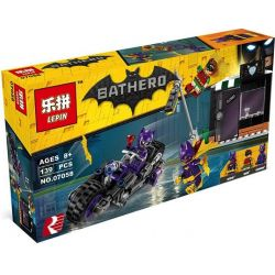 Bela 10627 Lari 10627 LEPIN 07058 Xếp hình kiểu THE LEGO BATMAN MOVIE Catwoman Catcycle Chase Cat Female Motorcycle Pursuit Motor Của Người Mèo 139 khối