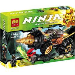 Bela 9791 Lele 79116 (NOT Lego Ninjago Movie 70502 Cole's Earth Driller ) Xếp hình Xe Chiến Đấu Máy Khoan Của Cole 174 khối