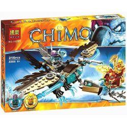 Bela 10291 Lari 10291 LELE 79096 Xếp hình kiểu Lego LEGENDS OF CHIMA Vardy's Ice Vulture Glider Qigong Legend Yinqi's Ice Bald Glider Chim ưng Băng Của Vardy 217 khối