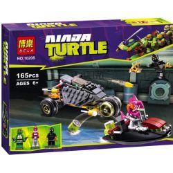 Bela 10208 Lari 10208 Xếp hình kiểu Lego TEENAGE MUTANT NINJA TURTLES Stealth Shell In Pursuit Ninja Turtle Invisible Battle Stealth Shell Trong Pursuit 162 khối