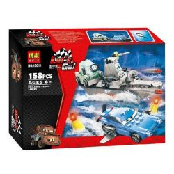 NOT Lego CARS 8426 Racing Mobilization Sea Escape At Sea , Bela 10011 Lari 10011 Xếp hình Thoát Ra Biển 159 khối
