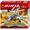 Bela 9729 Lele 79142 (NOT Lego Ninjago Movie 2260 Ice Dragon Attack ) Xếp hình Rồng Băng Của Zane 158 khối