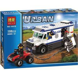 Bela 10418 (NOT Lego City 60043 Prisoner Transporter ) Xếp hình Người Vận Chuyển Tù Nhân 198 khối